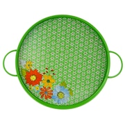 """Laurie Gates Daisie Collection 15.4"""" Powder Coated Steel Tray Green 118360.01"""