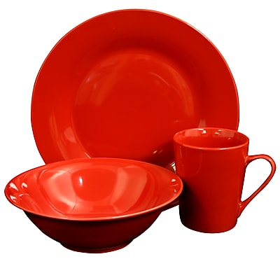 //.staples-3p.com/s7/is/. ×. Images for Gibson Home Carlton 12-Piece Ceramic Dinnerware Set Red 116910.12  sc 1 st  Staples & Gibson Home Carlton 12-Piece Ceramic Dinnerware Set Red 116910.12 ...