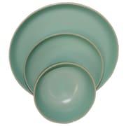 Gibson Home Rockaway 12-Piece Stoneware Dinnerware Set Teal 118318.12