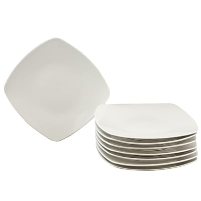 Gibson Zen Buffetware 8.25 in. Salad Plate Set White 108042.08