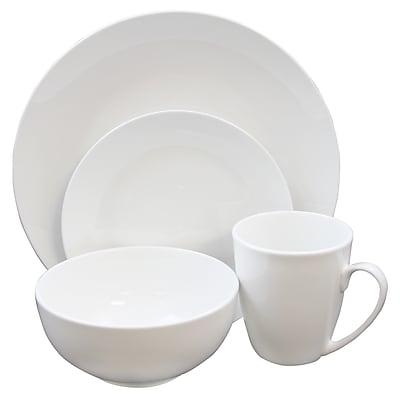 Gibson Home Ogalla Porcelain 16-Piece Dinnerware Set White 105965.16