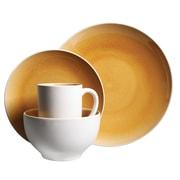 Gibson Serenity Amber 16-Piece Stoneware Dinnerware Set Yellow 111098.16