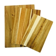 "Oster Goemon  15"" x 11"" x 1.8"" Acacia Cutting Board Set Brown"