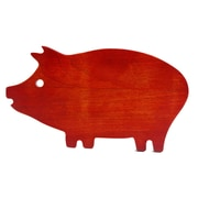 "General Store Hollydale 14"" x 7.5"" x 0.5"" Pig Shape Cutting Board Brown"