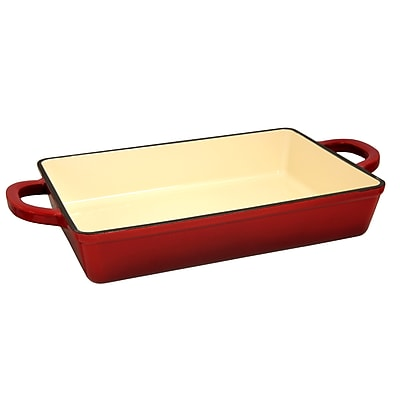Crock-Pot Artisan Cast Iron 13 in. Lasagna Pan, Scarlet Red (112006.01)