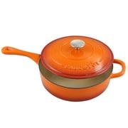 Crock-Pot Artisan Cast Iron 3.5 qt. Deep Saute Pan with Self-Basting Lid, Sunset Orange (112014.02)