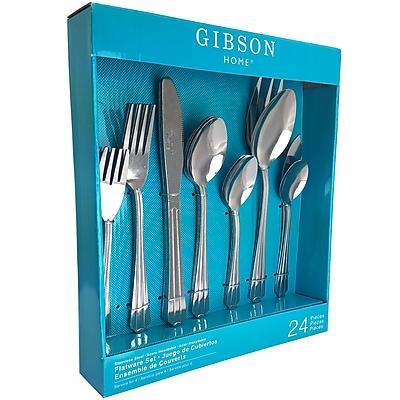 Gibson 83690.24 Avenham Stainless Steel 24-Piece Flatware Set