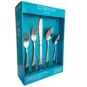 Gibson 80059.20 Silver Wave Stainless Steel 20-Piece Flatware Set