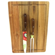 Laurie Gates 80119.03 Daisie Collection Stainless Steel 3-Piece Carving Set