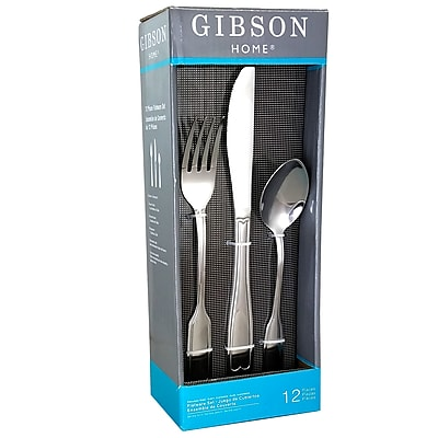Gibson Home 92679.12 Caldwell Stainless Steel 12-Piece Flatware Set