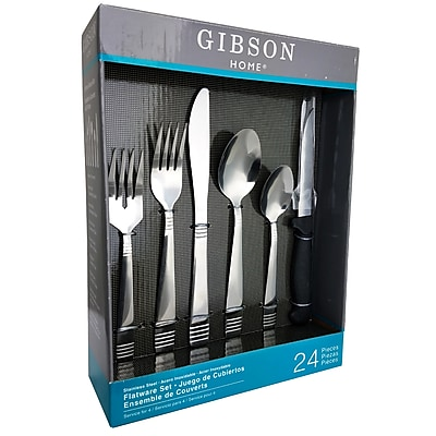 Gibson 44012.24 Palmore Plus Stainless Steel 24-Piece Flatware Set