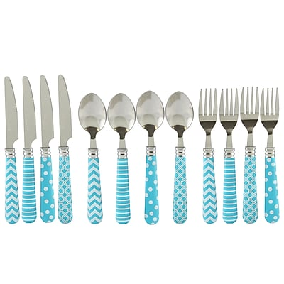 Gibson Home 112093.12 Retro Diner Stainless Steel 12-Piece Flatware Set