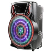 Quantum Fx PBX-61160 15 Inch Rechargeable Bluetooth Party Speaker Bonus Stand Included Grey