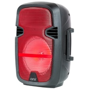 """Quantum Fx PBX-61083-RED 8"""" Battery Powered Portable Party Speaker Red"""