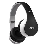 QFX H-254 BLACK Over Ear Folding Bluetooth Stereo Headphones With Microphone Black