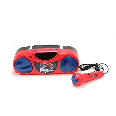 The Amazing Spider-Man 2 Portable Radio Karaoke Kit With Microphone Red and Blue (16346N)