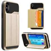 Gold Wallet Credit Card Holder Case for iPhone X (APLCRC857)