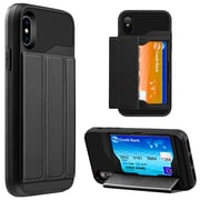 Black Wallet Credit Card Holder Case for iPhone X (APLCRC855)