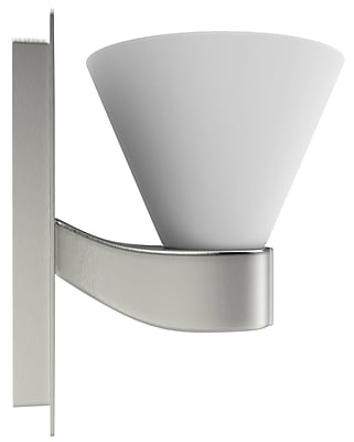 """""American Imaginations 5.25""""""""W Square Brass Wall Mount Wall Sconce in Brushed Nickel Color Brushed Nickel 1 (AI-556)"""""" 24262647"