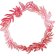 """Artdeco Creations Wild Wreath Frame Couture Creations Let Every Day Be Christmas Hotfoil Stamp, 3.5"""" x 3.3"""" (CO725533)"""