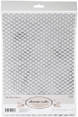 Artdeco Creations The Ritz W/Silver, 6 Designs/2 Each Ultimate Crafts Foiled Vellum A4, 12/Pkg (UL157833)