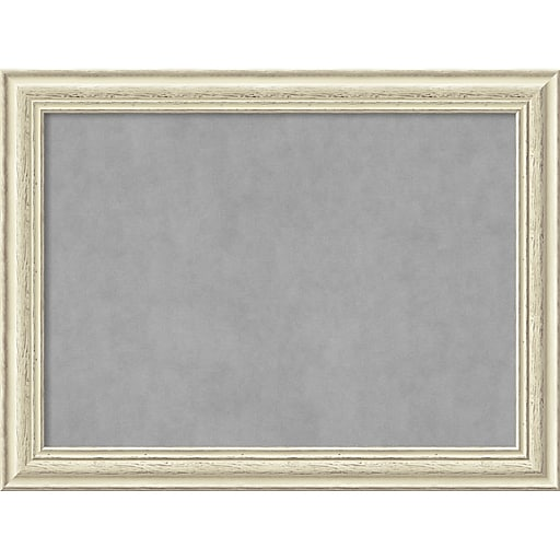Amanti Art Framed Magnetic Board Large Country White Wash 33\