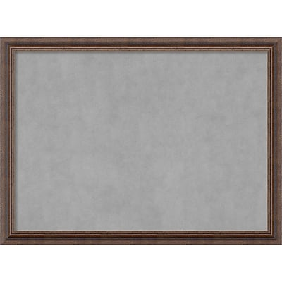 Amanti Art Framed Magnetic Board Large Distressed Rustic Brown 31