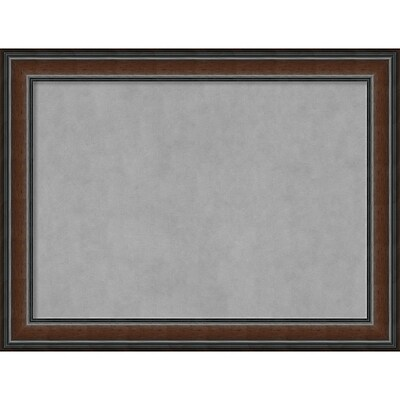 Amanti Art Framed Magnetic Board Large Cyprus Walnut 33