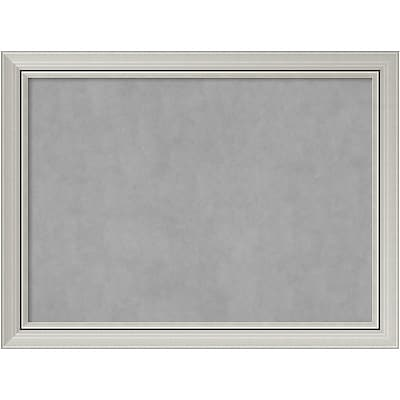 Amanti Art Framed Magnetic Board Large Romano Silver 32