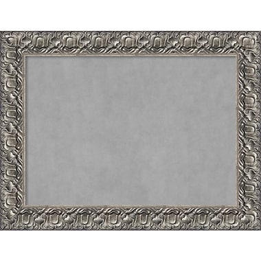 Amanti Art Framed Magnetic Board Large Silver Luxor 34