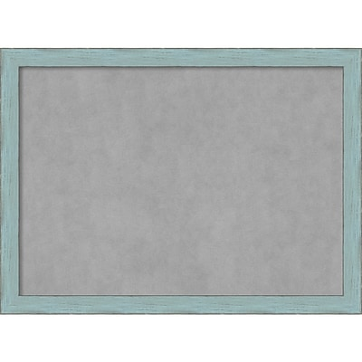Amanti Art Framed Magnetic Board Large Sky Blue Rustic 31