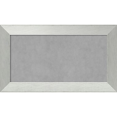 Amanti Art Framed Magnetic Board Medium Brushed Sterling Silver 28