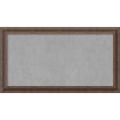 Amanti Art Framed Magnetic Board Medium Distressed Rustic Brown 27