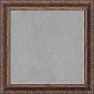 Amanti Art Framed Magnetic Board Small Distressed Rustic Brown 15