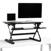 Poppin Black Medium Peak Adjustable Height Standing Desk Riser (104532)