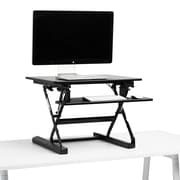 Poppin Black Small Peak Adjustable Height Standing Desk Riser (104534)