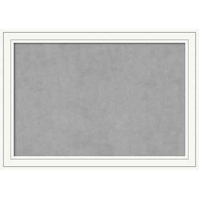 Amanti Art Framed Magnetic Board Extra Large Craftsman White 41