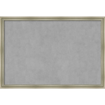 Amanti Art Framed Magnetic Board Extra Large Warm Silver Swoop 38