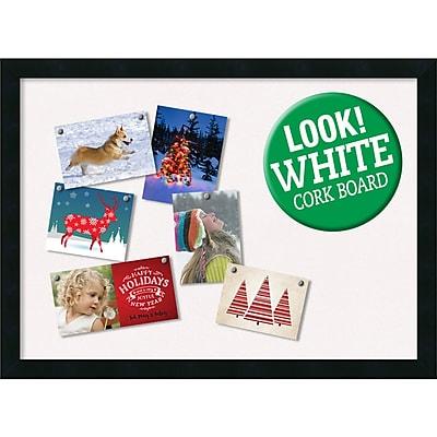 Amanti Art Framed White Christmas Card Cork Board Mezzanotte Black 30