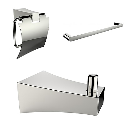 American Imaginations Single Rod Towel Rack with Robe Hook and Toilet Paper Holder (AI-13510)