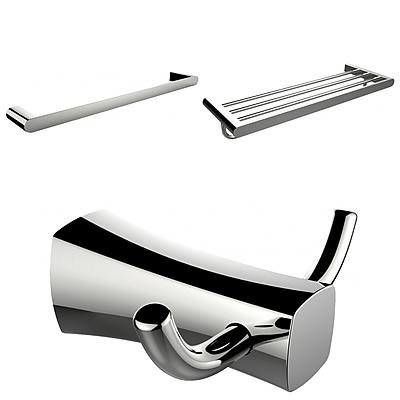 American Imaginations Multi-Rod Towel Rack with Robe Hook and Single Towel Rod (AI-13478)