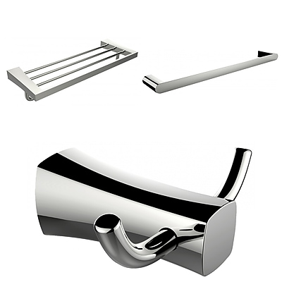 American Imaginations Multi-Rod Towel Rack with Robe Hook and Single Towel Rod (AI-13476)