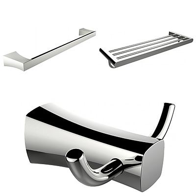 American Imaginations Multi-Rod Towel Rack with Robe Hook and Single Towel Rod (AI-13475)