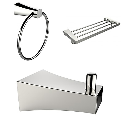 American Imaginations Multi-Rod Towel Rack with Robe Hook and Towel Ring (AI-13526)