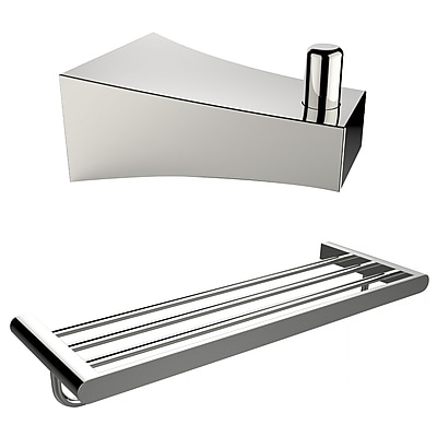 American Imaginations Multi-Rod Towel Rack and Robe Hook (AI-13296)