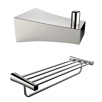 American Imaginations Multi-Rod Towel Rack and Robe Hook (AI-13292)