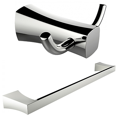 American Imaginations Single Rod Towel Rack and Double Robe Hook (AI-13279)