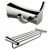 American Imaginations Double Robe Hook and Multi-Rod Towel Rack  (AI-13278)