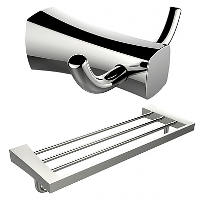 American Imaginations Double Robe Hook and Multi-Rod Towel Rack (AI-13280)
