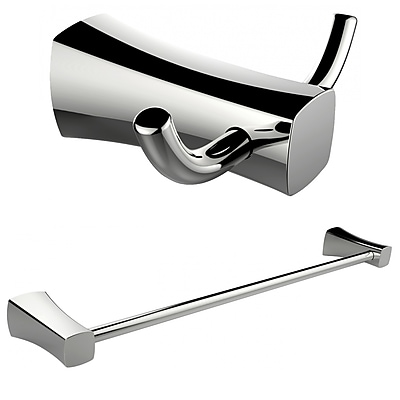 American Imaginations Double Robe Hook and Single Rod Towel Rack (AI-13277)